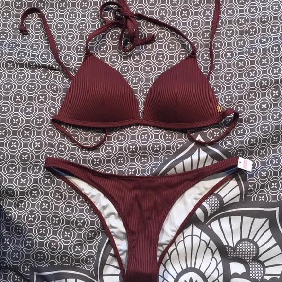 4b92c16f3eec6 PINK Victoria's Secret Swim | Maroon Bikini From Vs | Poshmark